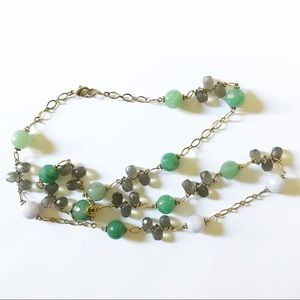 Semi Precious Green Beaded Necklace